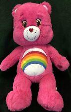 """Build a Bear Care Bears Pink Cheer Bear 17"""" Plush Rainbow Stuffed Animal Toy"""