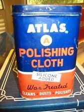 ATLAS Automobile Polishing Cloth Tin Can w Cloth