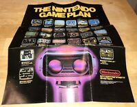 1986 EARLY NES Small POSTER The Nintendo GAME PLAN Early Black Box Games RARE!
