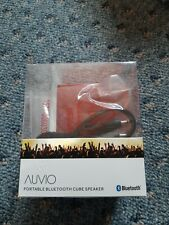 Auvio 4000706 Portable Bluetooth Cube Speaker - Red