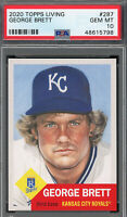 George Brett Kansas City Royals 2020 Topps Living Baseball Card #287 PSA 10