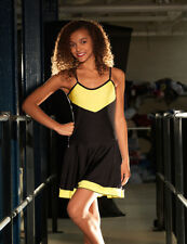 IN STOCK Cheer Leader Black & Yellow Lycra Dress Dance Costume 3 Adult Small
