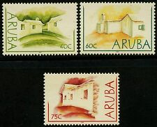 ARUBA N°301/303** Maisons en torchis , 2003 MNH
