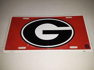 Georgia Bulldogs NCAA Metal License Plate