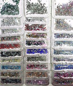 1 Pack Mix Sizes Glass Crystal Hotfix Rhinestones Nail Art Crafts Garments Decor