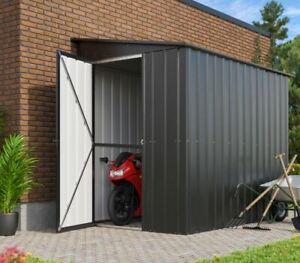 Aktion - Globel Gerätehaus, Fahrradhaus, Wandzierde LEAN-TO L58, Anthrazit,