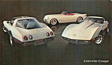 1978 CORVETTE COUPE BY CHEVROLET AUTOMOBILE POSTCARD