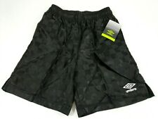 Umbro Youth Soccer Shorts Classic Checkerboard Girls Boys Med 8/10 Black New NWT
