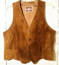 Men's Jacket Vest Size 40 Pioneer Wear Hunting Suede Leather Western Made In USA