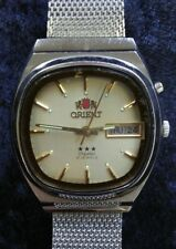 """MENS AUTHENTIC """"ORIENT"""" 3 STAR CRYSTAL 21 JEWELS AUTOMATIC WRIST WATCH"""