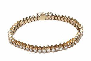 "14k Gold Tennis Bracelet With 1 Carat of Diamonds 7"" Long Weighs 22 Grams"