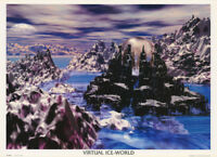 POSTER : FANTASY :  VIRTUAL ICE WORLD   -  FREE SHIPPING !  #VR0012 RC25 G