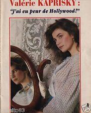 Coupure de presse Clipping 1984 Valérie Kaprisky  (3 pages)