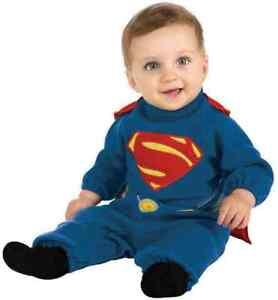 NEW Superman Man of Steel Superhero Baby Infant Toddler Costume 0-9  MONTHS