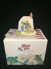 "Lilliput Lane Petticoat 00004000  Cottage 2"" Tall with Coa Nib!"