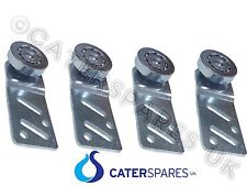 4 X HOT CUPBOARD STRAIGHT REAR SLIDING DOOR RUNNER BEARING HANGER METAL WHEEL