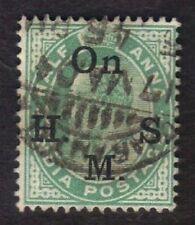 India Scott Sc #O38 1902-09 Edward II Official Stamp Revenue Used Overprint