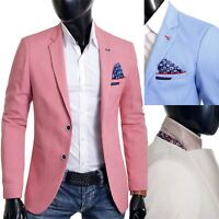 Men's Blazer Jacket Casual Formal Herringbone Pattern 9 Colours UK Size Cotton