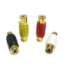 RCA Phono Female to Female Coupler Extend Audio/Video Cable Joiner Adapter Gold