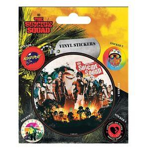 Set 5 Genuine DC Comics The Suicide Squad Team Vinyl Stickers Gadget Decals