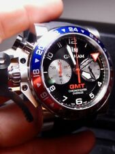Graham Chronofighter Oversize Pepsi 47 GMT Best One $11,560 List HUGE 100% NIB