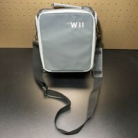 Nintendo Wii Console Game Controller Gray Travel Case Messenger Bag Carry All