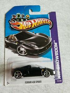 2013 Hot Wheels FERRARI 458 SPIDER Black 151/250 EXCELLENT CARD