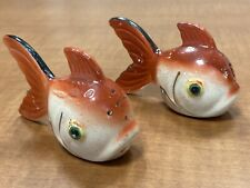 Vintage Ceramic Koi Fish Salt & Pepper Shakers - Japan