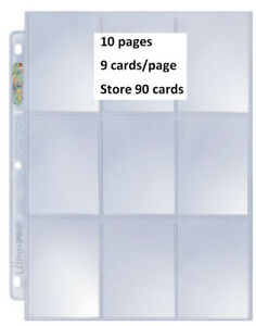 Ultra Pro Platinum  9 Pocket Trading Cards (10 pages ... store 90 cards)