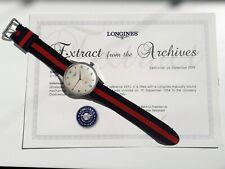VINTAGE WATCH OROLOGIO LONGINES RARE 12.68 SUPERJUMBO STEEL MINT '40- '50 1 EURO