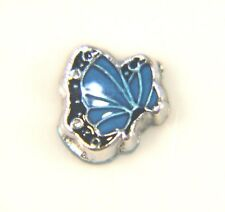Floating Charms Mini Charm Living Memory Locket Pendant Butterfly Blue 8mm
