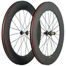 88mm Deep Carbon Road Bike Wheels Novatec 271 Hub Cycling Carbon Wheelset 20/24