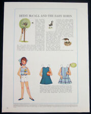Betsy McCall and the baby robin paper doll 1-pg clipping 1964 uncut
