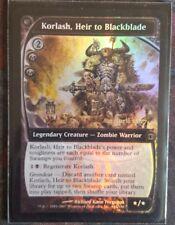 Mtg korlash, heir to blackblade foil x 1 great condition