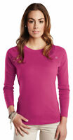 Tri-Mountain Women's Cotton Scoop Neck Long Sleeve Fit New Look T Shirt. LB393