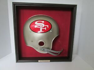 Vintage Gresh Enterprises SAN FRANCISCO 49ers NFL Football Helmet Plaque Framed