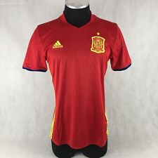 16a7512b4 Adidas 2016 UEFA EURO Spain Home Soccer Jersey Short Sleeve Red AI4411 Men  Sz L