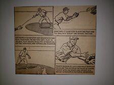 Phil Rizzuto Snuffy Stirnweiss Slats Marion 1948 Cartoon Sketch