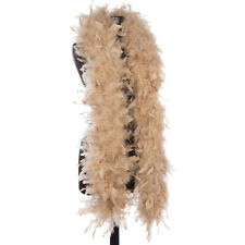 Camel 65 Gram Chandelle Feather Boas - 6 Feet Long - Halloween Costumes - Trim