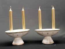 "Rare Lot of 2 Holt Howard ""Pixieware� Candleholder Mid-Century Modern Starburst"