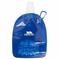 Trespass Hydromini, Blue, ONE SIZE, Collapsable Water Bottle 350ml with Bite Val