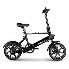 Electric Bicycles Ebike 36V 250W Dual Disc Brakes 3 Speeds Foldable Handle Black