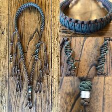 Paracord Duck Goose Waterfowl Predator Call Lanyard Brown & Camo Green
