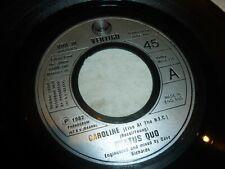 "STATUS QUO - Caroline - Original 1973 UK 2-track 7"" Juke Box vinyl single"