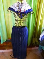 T 44   bleue marine ,boutique===INFINITIF jupe  +foulard offert