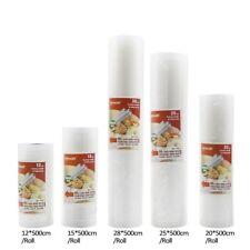 Food Vacuum Bag Storage Bags For Vacuum Sealer 12+15+20+25+28cm*500cm 5 Rolls