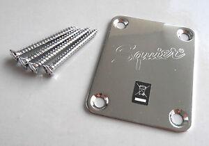 Squier Strat, Tele Neck Plate / Halsplatte + Schrauben