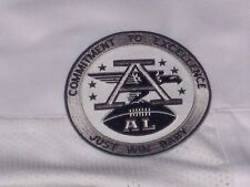 """OAKLAND RAIDERS JERSEY PATCH AFL """"AL"""" """"COMMITMENT TO EXCELLENCE- JUST WIN BABY"""""""