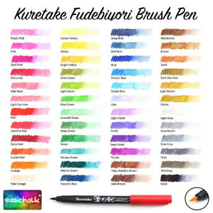 Kuretake Zig Fudebiyori Brush Pen Marker * 48 Colours*,  Rare, UK Seller.