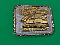 Vintage USS Constitution Metal Belt Buckle